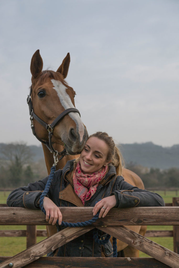 Charlotte with Steve the horse